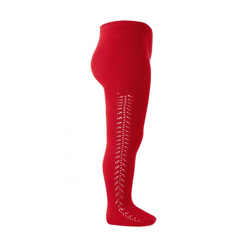 Crochet Tights, Red Sample