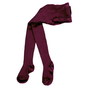 Ribbed Tights, Garnet