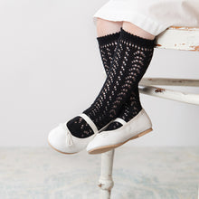 Crochet Folklore Knee Socks, Black