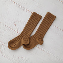 Ribbed Knee Socks, Caramel