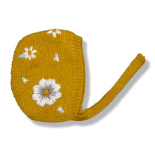 Flora Embroidered Bonnet, Mustard