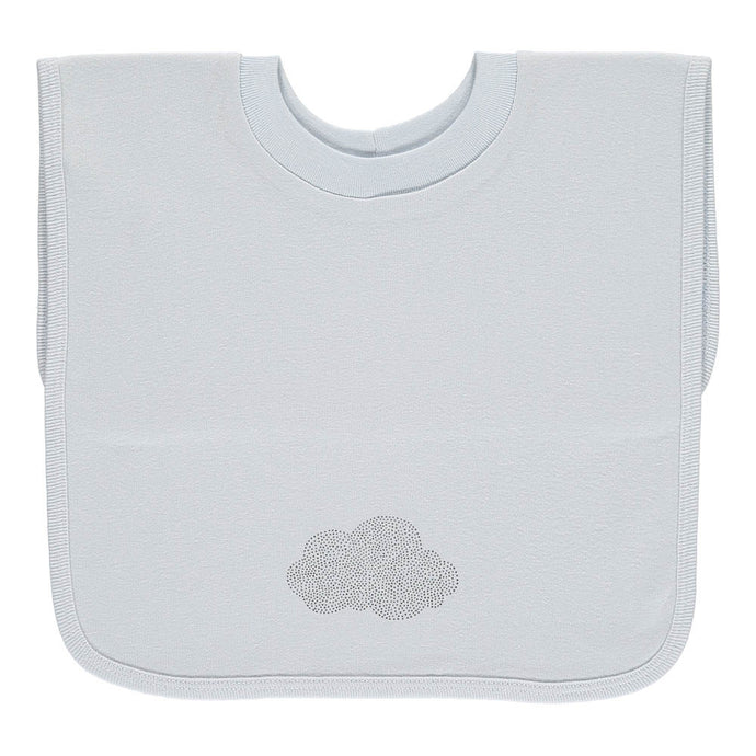 Large T-Shirt Bib, Green Cloud