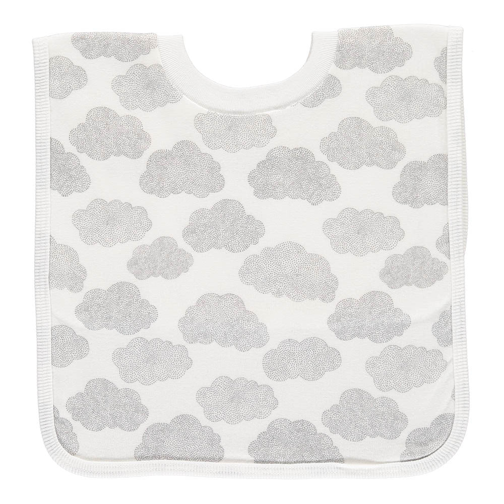 Large T-Shirt Bib, Clouds