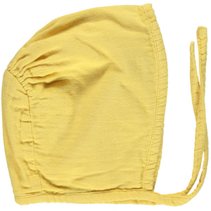 Organic Cotton Bonnet, Cream Gold