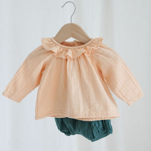 Organic Cotton Blouse, Appleblossom