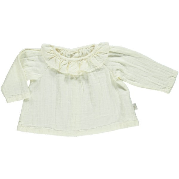Organic Cotton Blouse, Cream