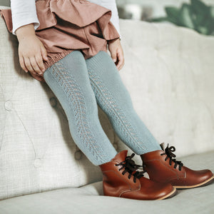 Crochet Tights, Sea Mist