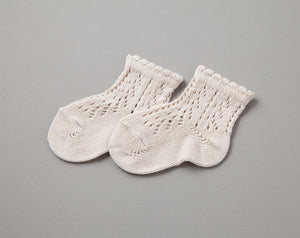 Crochet Ankle Socks, Linen