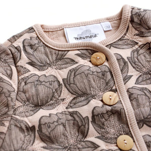 Roma Quilted Jacket, Peonies