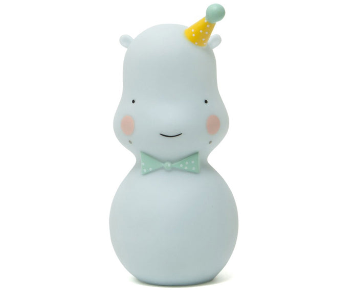 Happy Hippo Night Light, Blue