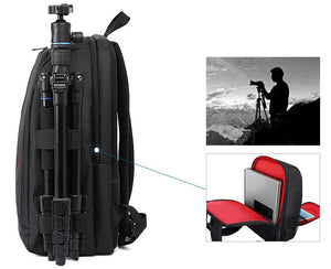Waterproof Digital DSLR Photo Padded Backpack w/ Rain Cover