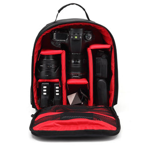 Video Photo Digital Camera Shoulders Padded Backpack Bag Case Waterproof Shockproof Small Bags for Canon Nikon DSLR HU-00