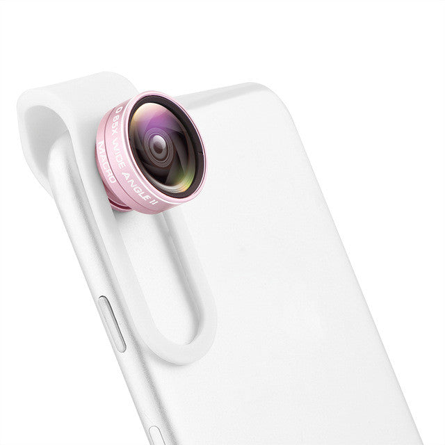 Powstro Universal 2 in 1 Clip-on Phone Camera Lens Wide Angle Lens + 10X Macro Lens For iPhone Samsung Sony Motorola Smartphones