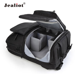 Jealiot Multifunctional Camera Bag Backpack DSLR digital Video Photo Bag case Professional waterproof shockproof for Canon Nikon