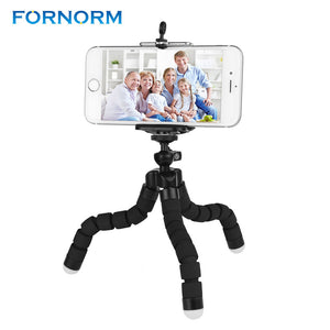 FORNORM Mini Portable Flexible Tripod with Phone Holder Bracket Stand Tripod Kit for iPhone7 Xiaomi For Samsung Mobile phone DSL