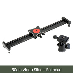 Ulanzi 40cm/50cm Smartphone Video Stabilizer Rail Aluminum Alloy Track Slider for Movie Film Video Making for iPhone Samsung
