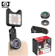 Led Flash Fill Light Adjustable Brightness with Wide-Angle Len