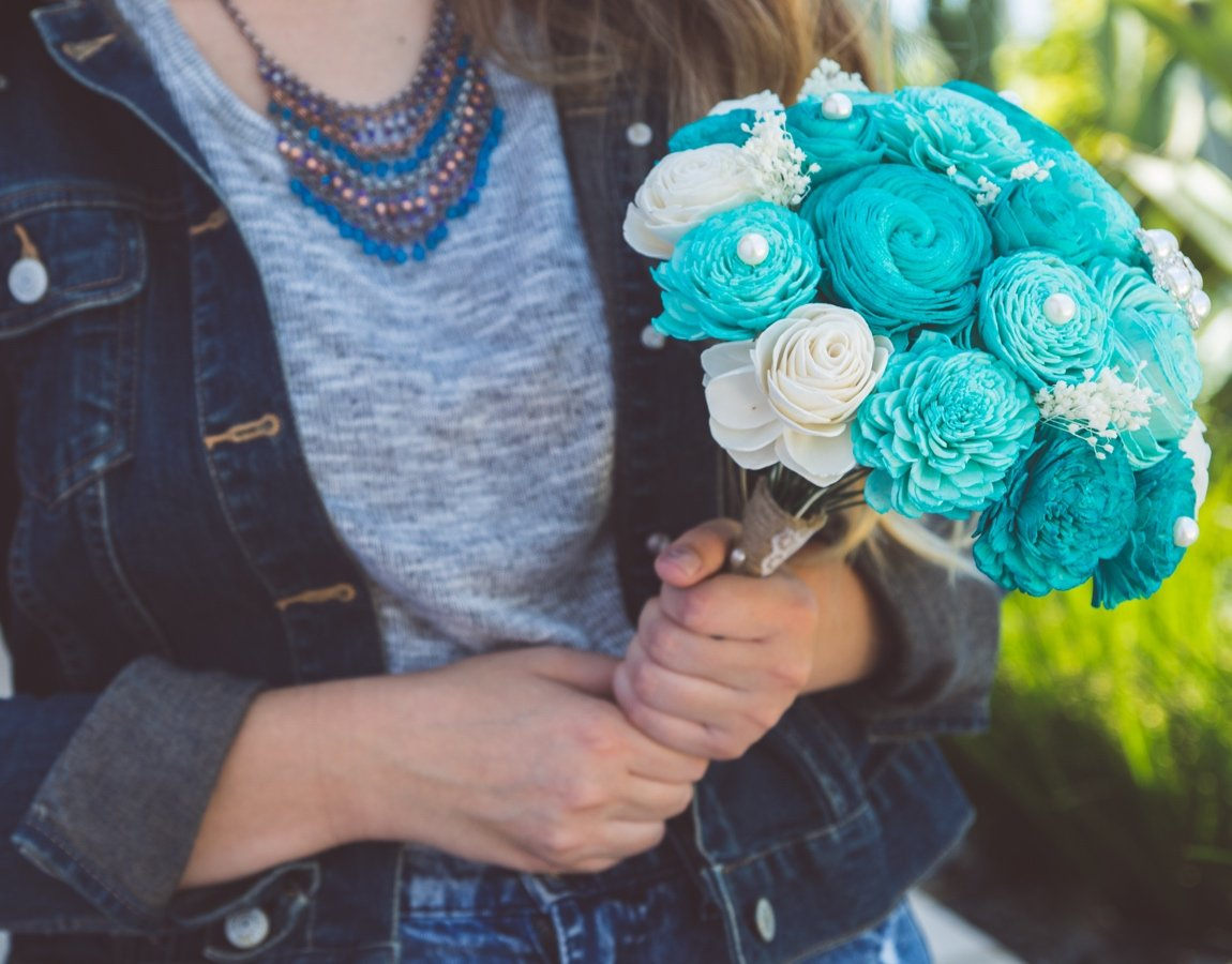 Sola Wood Flower Bouquets - Breakfast at Tiffany's