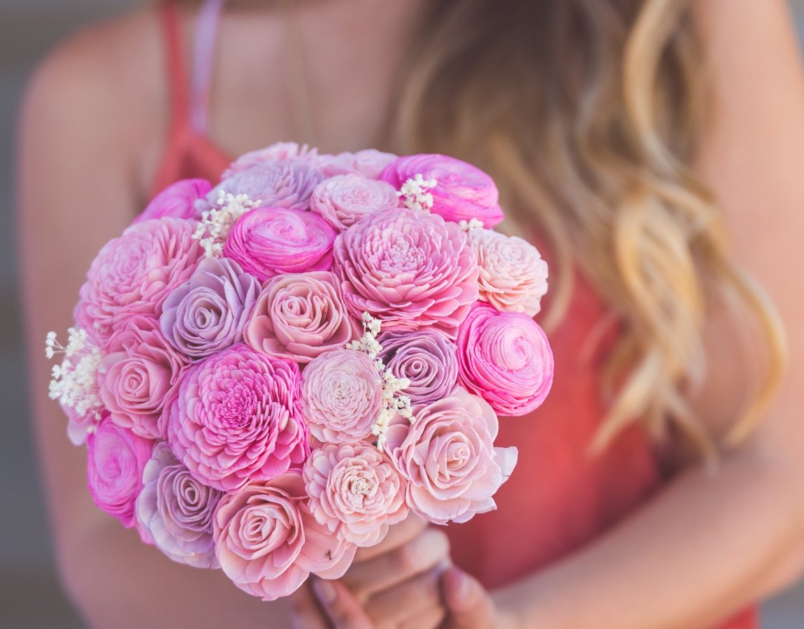 Sola Wood Flower Bouquets - Guess How Much I Love You - Luv My ...