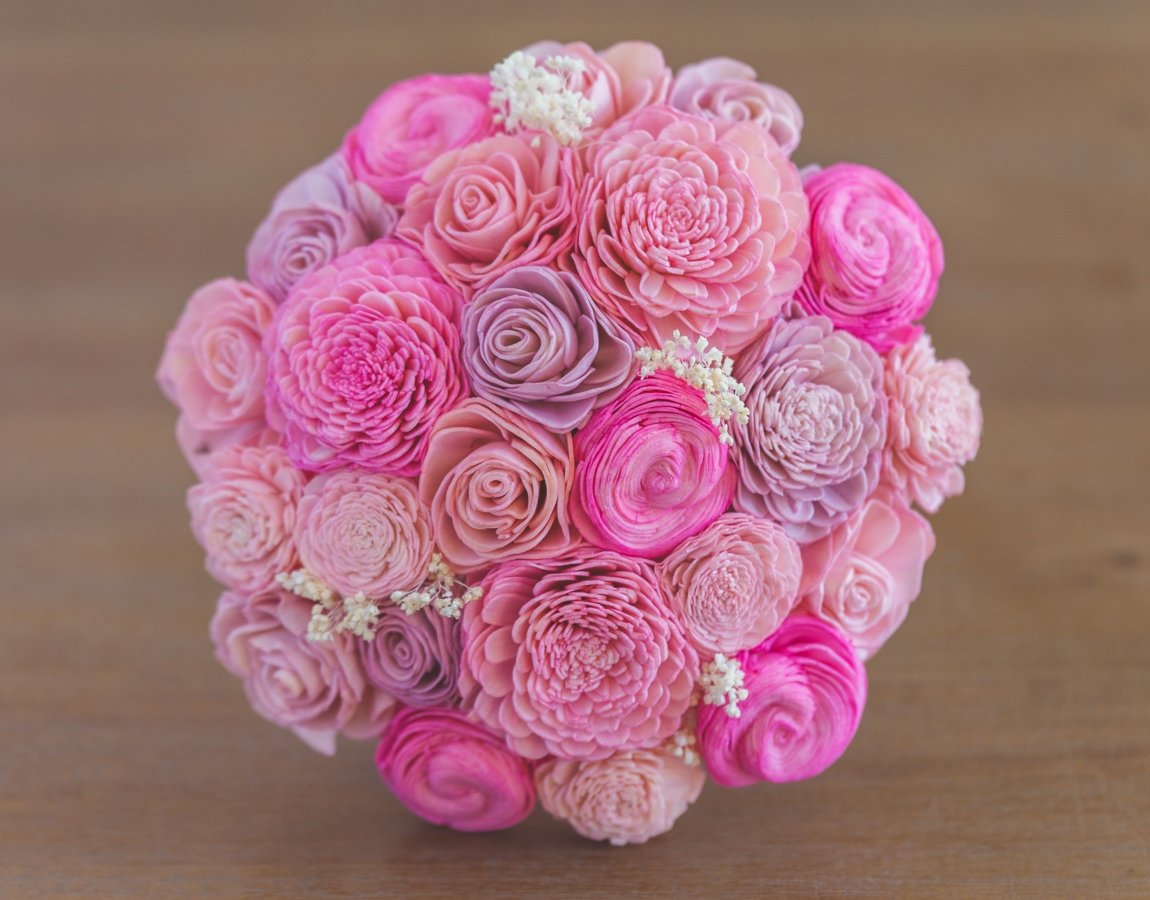 Sola Wood Flower Bouquets - Guess How Much I Love You
