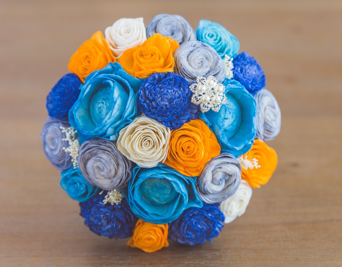 Sola Wood Flower Bouquets - Midnight in Manhattan