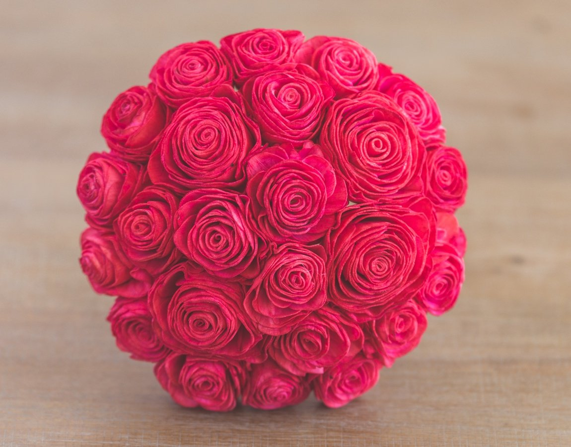 Sola Wood Flower Bouquets - Red My Mind
