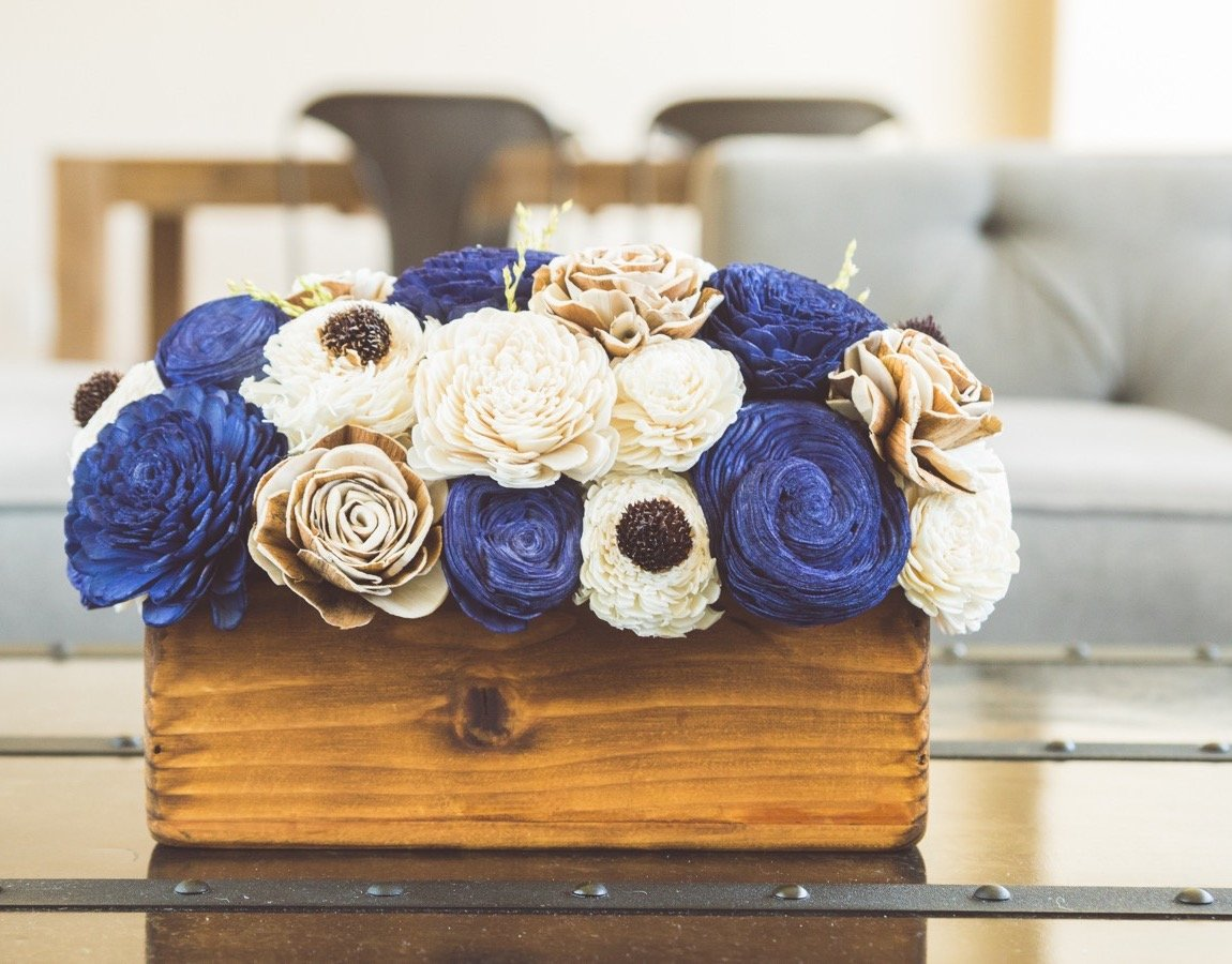 Sola Wood Flower Centerpiece - Moonlight Centerpiece
