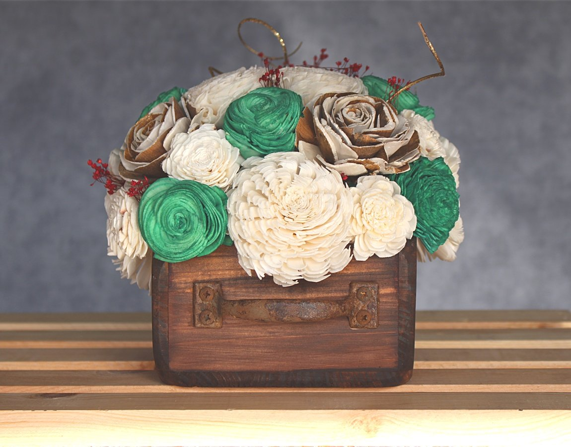 Sola Wood Flower Centerpiece - Presents Under The Tree Centerpiece