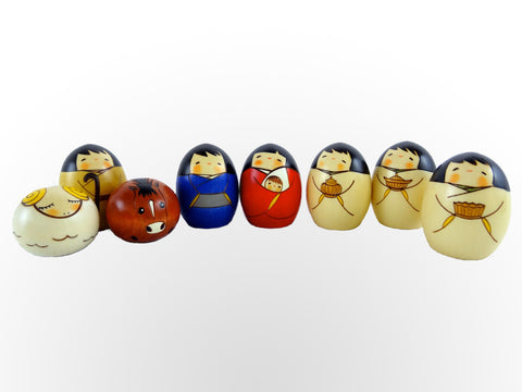 8-pc Kokeshi Nativity Set
