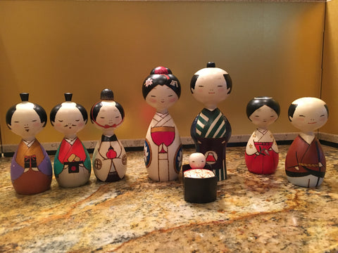 Special 8-pc Kokeshi Nativity Set