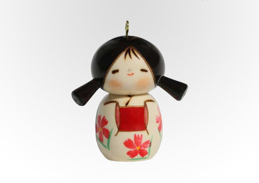 Kokeshi Christmas Ornament Girl