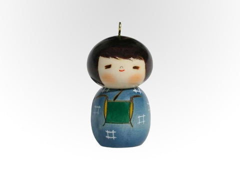 Kokeshi Christmas Ornament Boy
