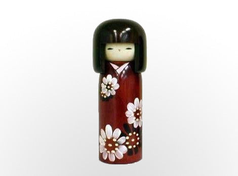 Hanaguruma - Flower Cart Kokeshi Doll U-21