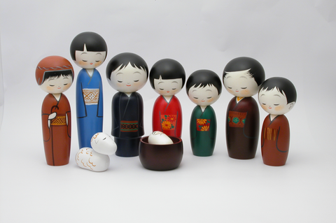 9-pc Kokeshi Nativity Set-sold out for this season