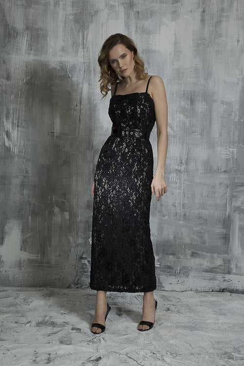 Midnight Sparkle Evening Dress