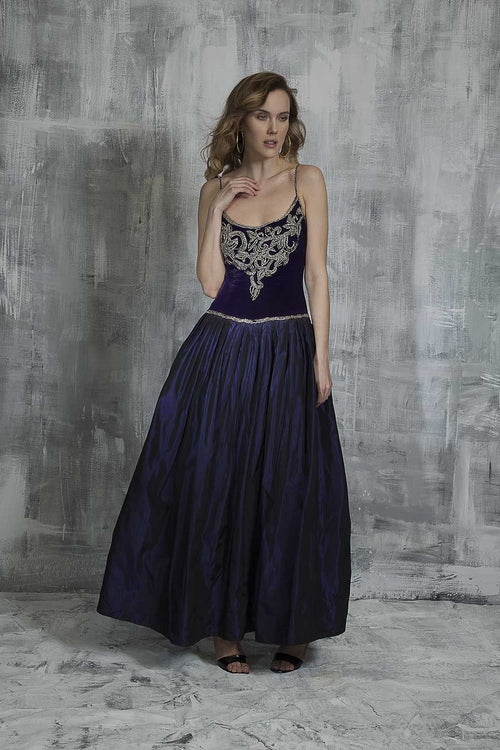 Princess Velvet Evening Dress