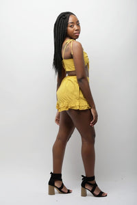 Yellow Mellow Short Set