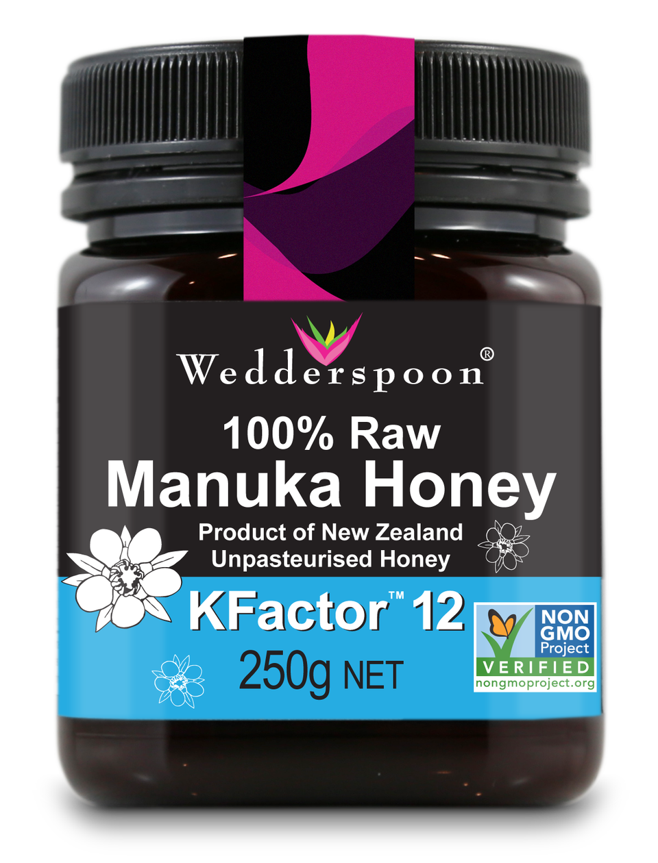 100% Raw Manuka Kfactor 12 Honey 250g.