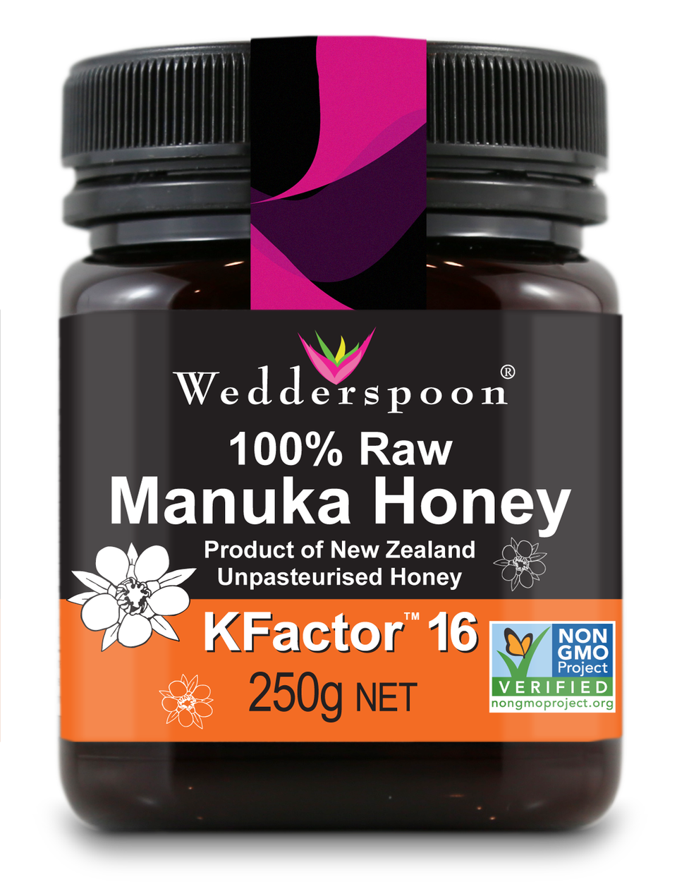 100% Raw Manuka Kfactor 16 Honey 250g.