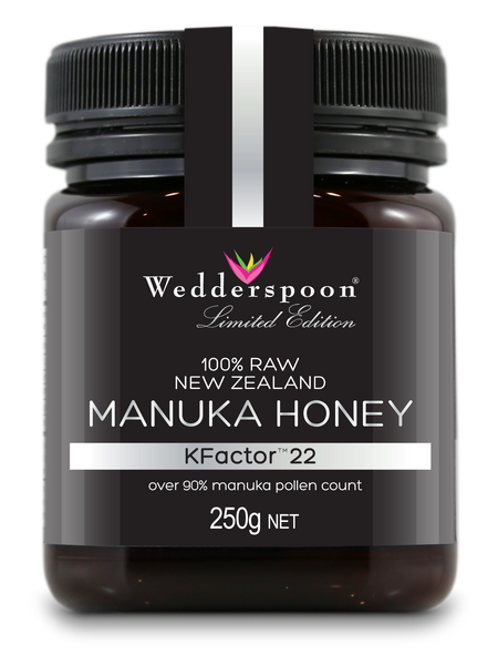100% Raw Manuka Kfactor 22 Honey Frontside