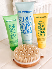 Frownies body wash body lotion cellulite cream
