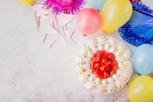 Cake plus balloons are the perfect gift delivery