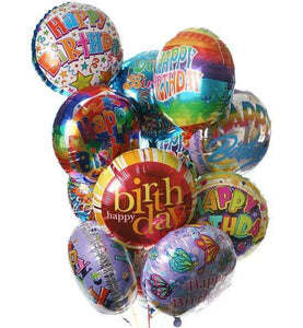 Full Dozen Birthday Balloon Bouquet - CupcakeDropoff .com