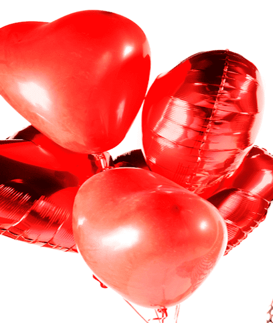 Balloons - Half Dozen Heart Balloon Bouquet