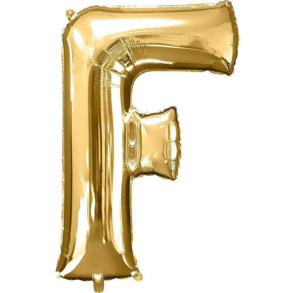 Jumbo Letter F Balloon 36x25 inches - CupcakeDropoff .com