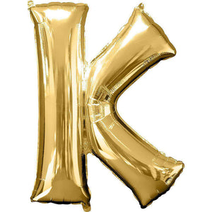 Jumbo Letter K Balloon 36x25 inches - CupcakeDropoff .com
