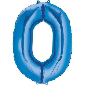 Jumbo Number 0 Balloon 36x25 inches - CupcakeDropoff .com