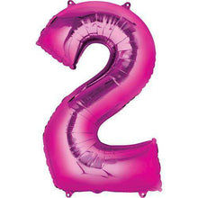 Jumbo Number 2 Balloon 36x22 inches - CupcakeDropoff .com