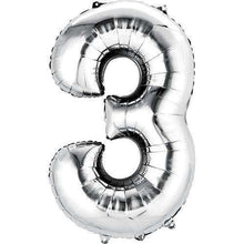 Balloons - Jumbo Number 3 Balloon 36x22 Inches