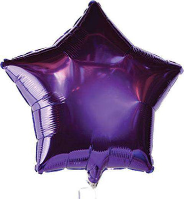 Purple Star Mylar Balloons, 18